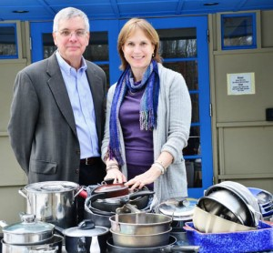 Discovery Museums CEO Neil Gordon with Household Goods President, Mimi Rutledge