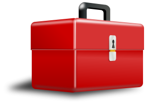 red-metal-tool-box