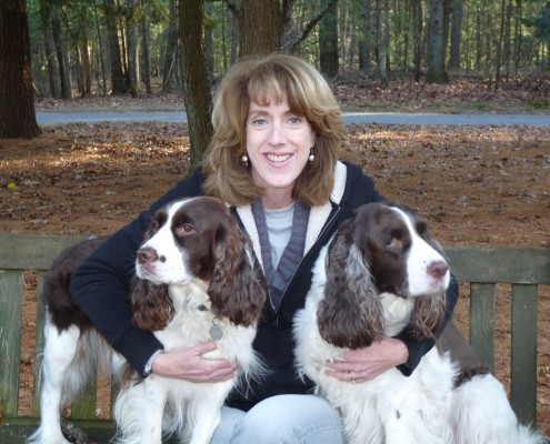 Sally Savelle with dogs