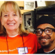 volunteer and client